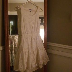 White, backless, dress